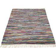 andiamo vloerkleed multicolour platweefsel, vloerkleed in patchwork-stijl, puur katoen, met de hand geweven, met franje, woonkamer multicolor