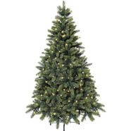 premium-kunstkerstboom met led-lichtsnoer groen