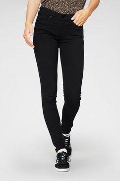 levi's skinny fit jeans »711 skinny« zwart