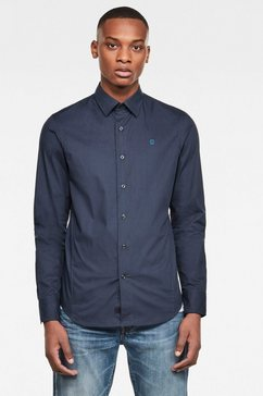 g-star raw overhemd met lange mouwen dressed super slim hemd blauw
