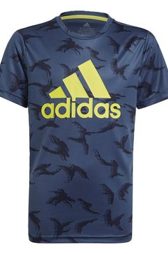 adidas performance t-shirt »adidas designed to move camouflage« blauw