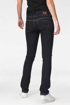 pepe jeans straight-jeans »venus« blauw