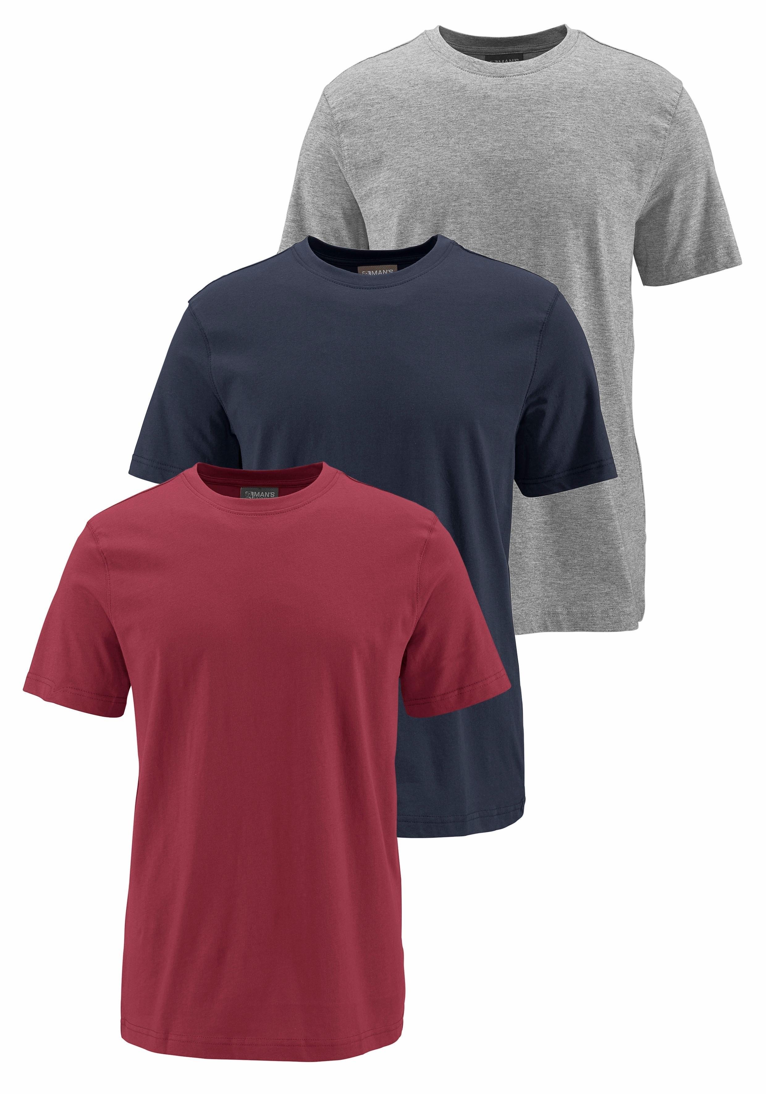Man's World Grey Connection T-shirt 2+1 gratis voordelig en veilig online kopen