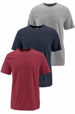 man's world t-shirt basic t-shirt in aangename kwaliteit (set, 3-delig, set van 3) blauw