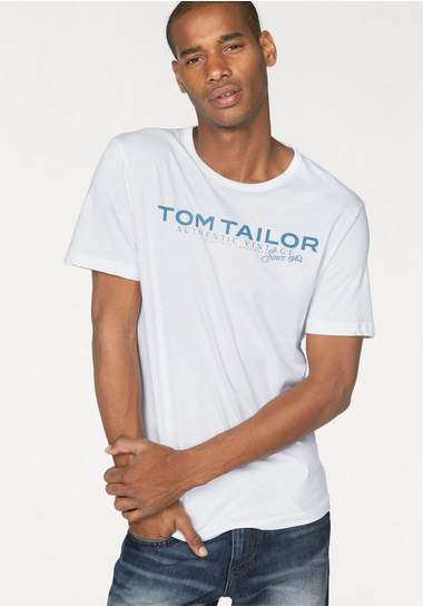 TOM TAILOR T-shirt met logoprint