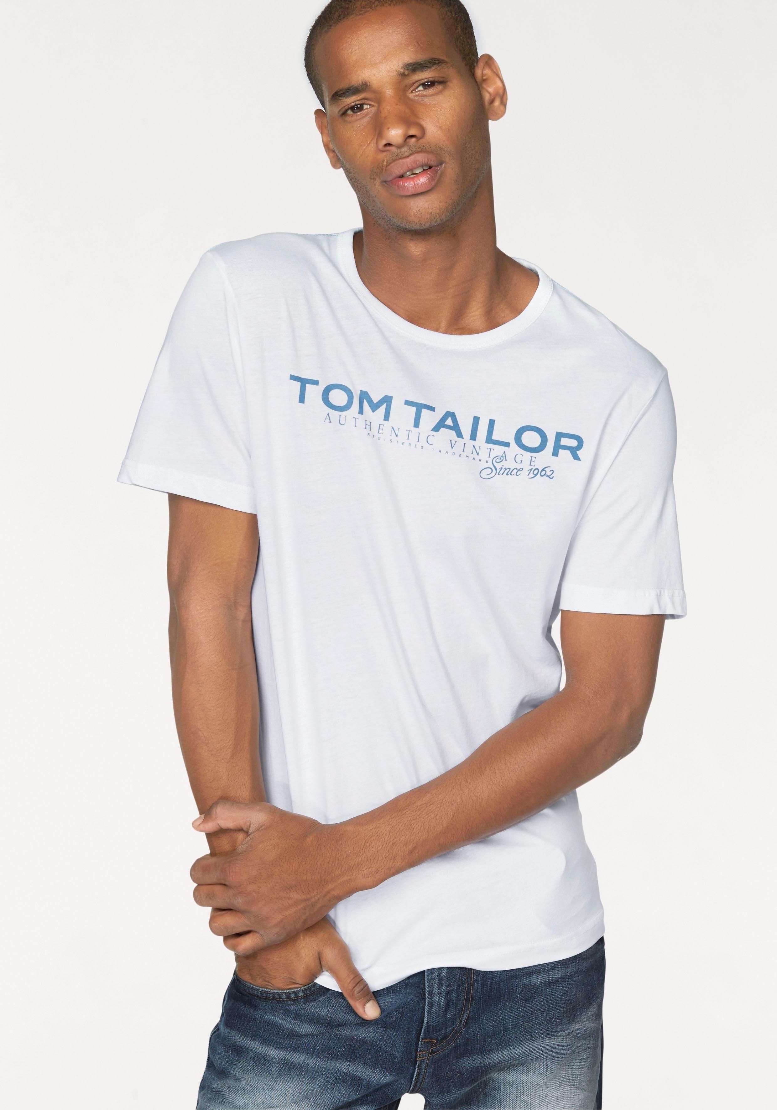Op zoek naar een TOM TAILOR T-shirt met logoprint? Koop online bij OTTO