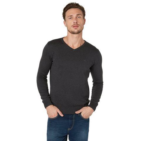 NU 20% KORTING: TOM TAILOR Trui »basic v-neck sweater«