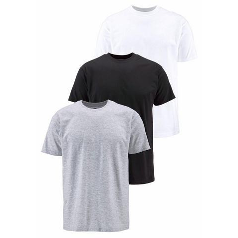 T-shirt, set van 3, FRUIT OF THE LOOM