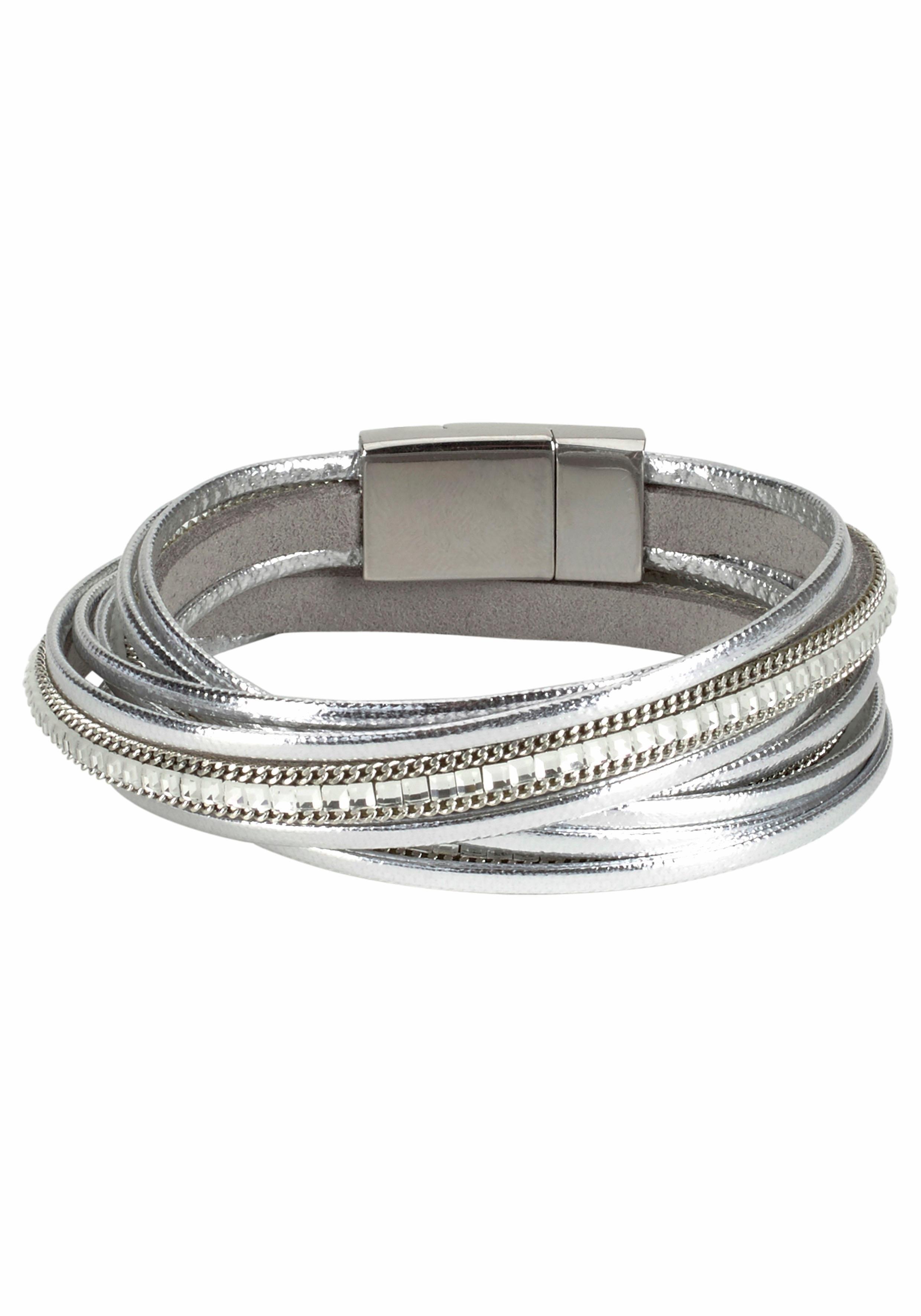 J.Jayz wikkelarmband In metallic-look met glassteentjes veilig op otto.nl kopen