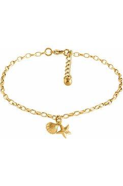 firetti enkelkettinkje »zeester en schelp« goud