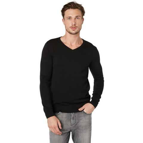 NU 20% KORTING: TOM TAILOR Trui »basic v-neck sweater«