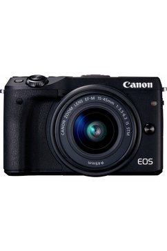 EOS M3 Kit systeemcamera, EF-M 15-45 mm f/3,5-6,3 IS STM zoom, 24,2 megapixel