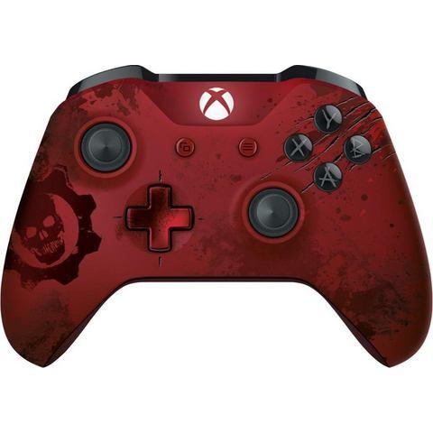 Microsoft Xbox One, Gears of War 4 Draadloze Controller (Crimson Omen) (Limited (WL3-00003)