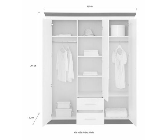 home affaire garderobekast siena online kopen otto. Black Bedroom Furniture Sets. Home Design Ideas