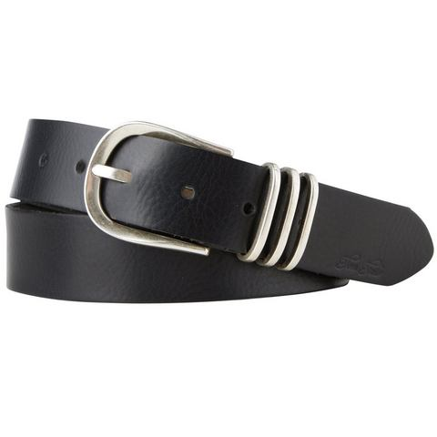 TOM TAILOR riem »leather belt with 3 metal loops«