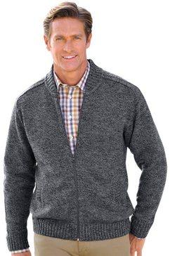 j.witt collection vest in mêleekwaliteit grijs