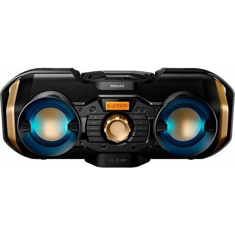 Philips PX840T-12 Soundmachine mit dynamischer Beleuchtung Schwarz