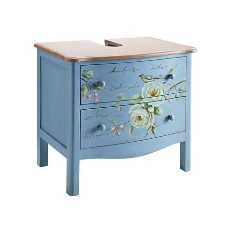 Wastafelonderkast blauwe badkamer onderkast 30