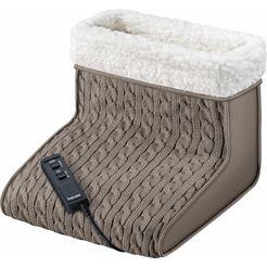 beurer elektrische voetenwarmer fwm 45 warmte en massage kunnen apart worden ingeschakeld bruin