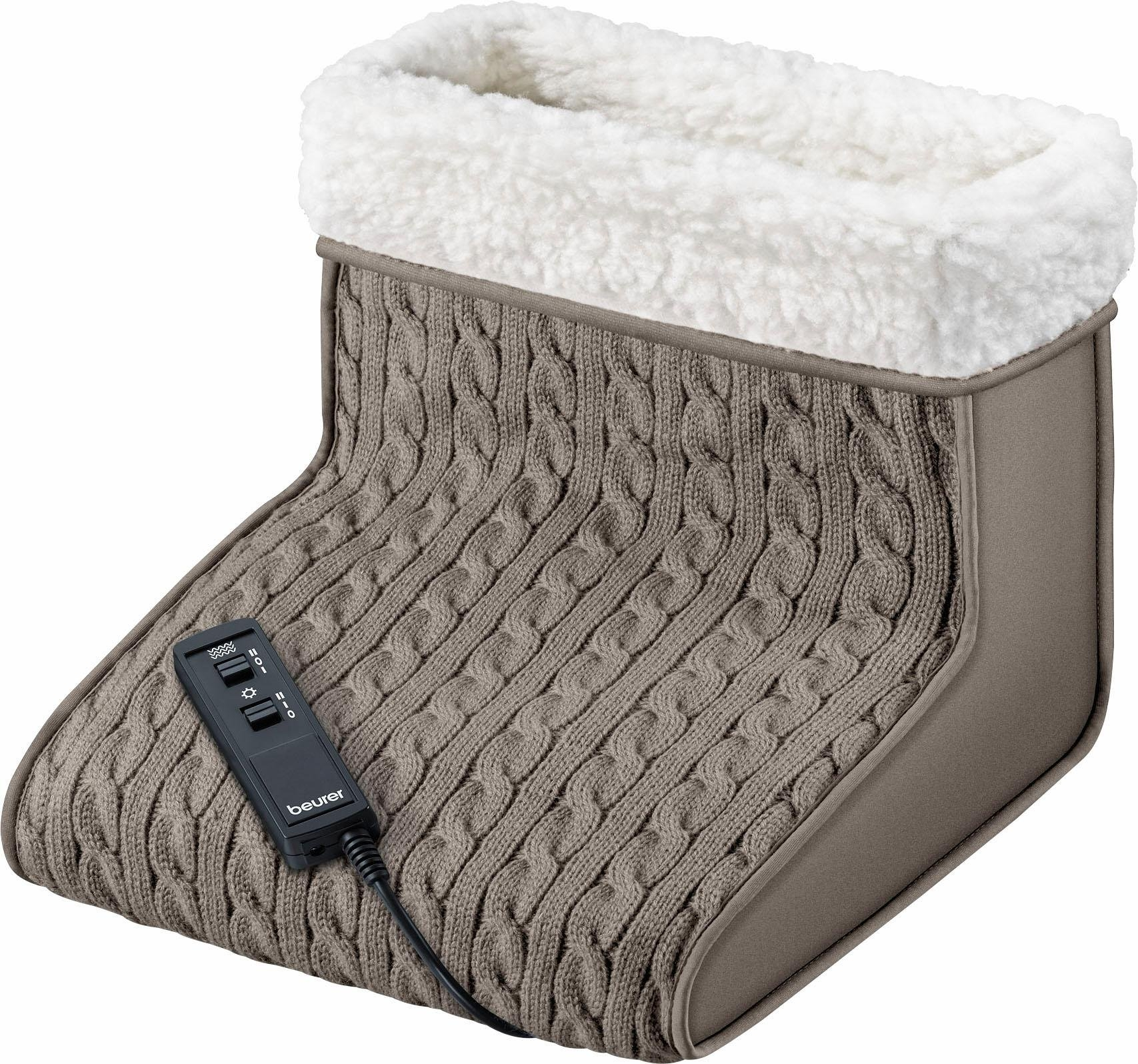 BEURER massage/voetenwarmer FWM 45, warmte en massage afzonderlijk aan te zetten veilig op otto.nl kopen