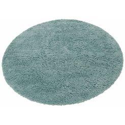 hoogpolig vloerkleed, rond, home affaire, »viva«, hoogte 45 mm, geweven zilver