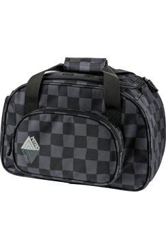 nitro reistas met schoenenvak, »duffle bag xs black checker« zwart