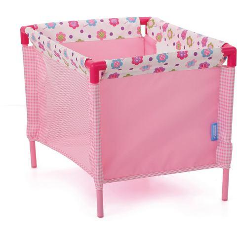 hauck TOYS FOR KIDS poppenreiswieg inclusief draagtas, »Play Yard, Spring Pink«