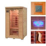 home deluxe infraroodcabine »redsun m«, 120x105x190 cm, 40 mm, voor maximaal 2 personen beige