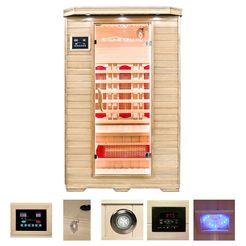home deluxe infraroodcabine »redsun m, met volspectrumlampen«, 120x105x190 cm, 40 mm, voor maximaal 2 personen 2014