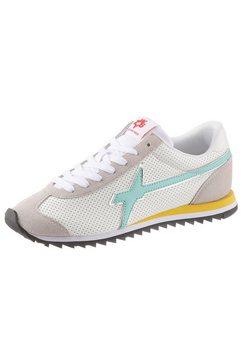 w6yz sneakers in de materiaalmix wit