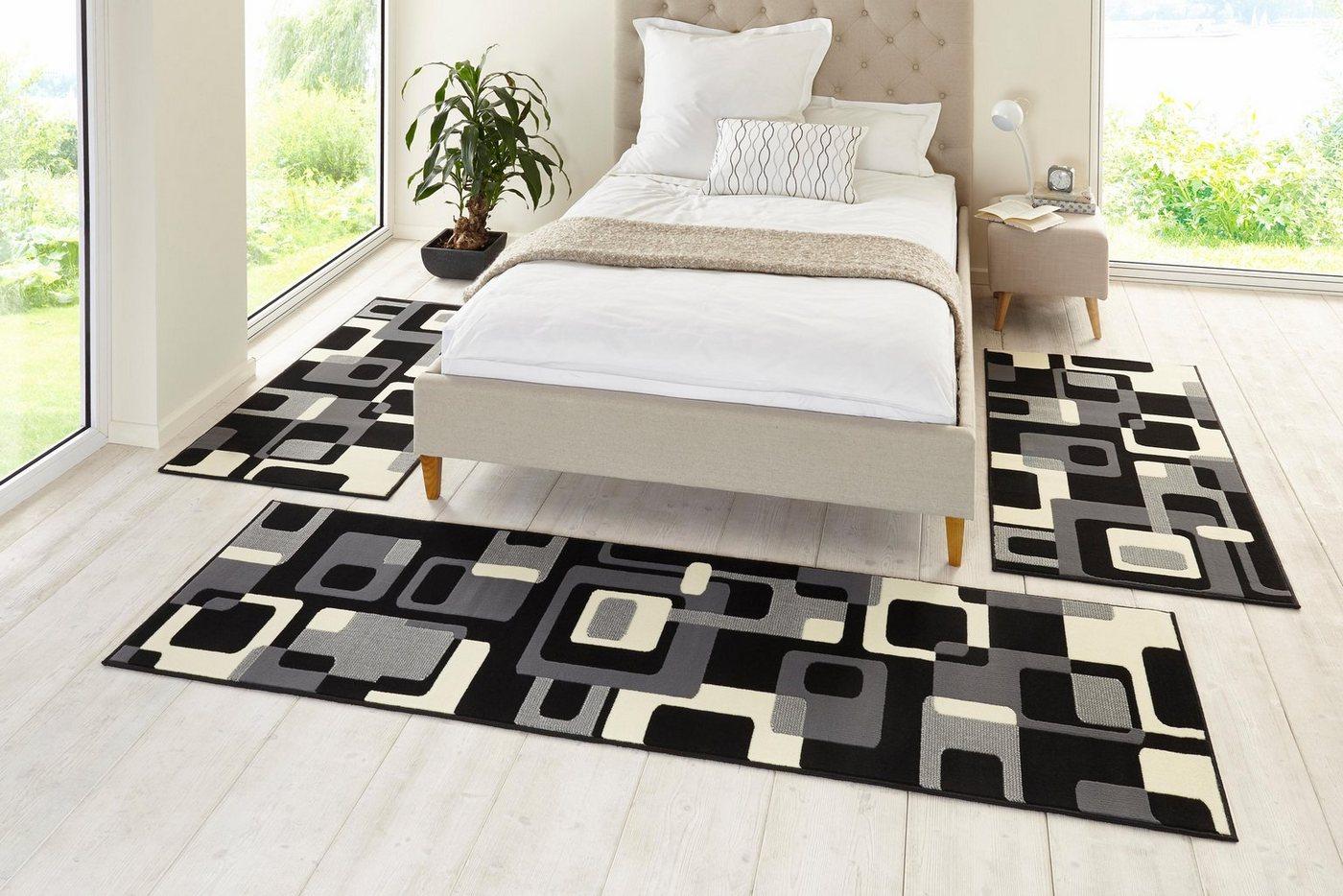 Slaapkamerset 3-dlg., HANSE HOME, Tiznit, retro-design, abstract, geweven