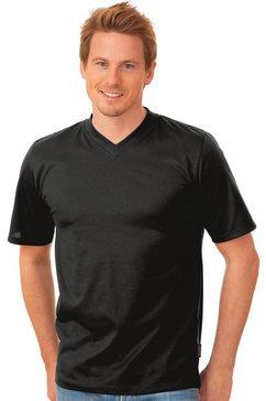 trigema t-shirt »stevige en gemakkelijk te onderhouden katoen« zwart