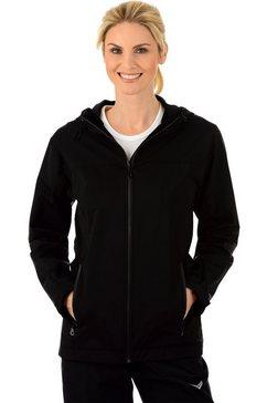 trigema outdoor jas met capuchon »met reflecterende trigema-vleugels« zwart