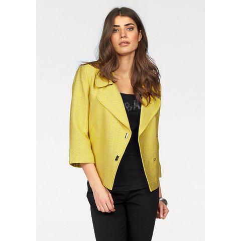 BRUNO BANANI Korte blazer van 2-kleurig materiaal