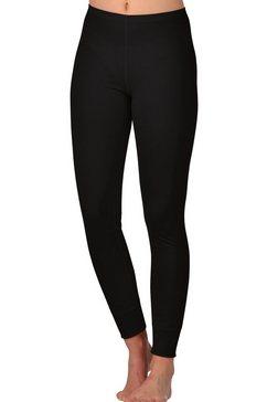 trigema lange ski-sportonderbroek van merinowol zwart