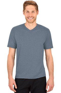 trigema t-shirt »stevige en gemakkelijk te onderhouden katoen« grijs