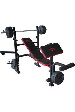 motive fitness by u.n.o. halterbank bronx (set) zwart