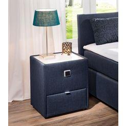 nachtkastje met led-verlichting blauw