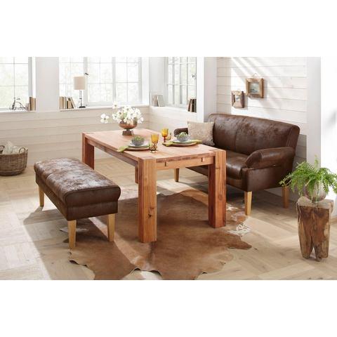 woonkamer driepersoons bankstel bruin Microgaren antiek-leer-look HOME AFFAIRE 3 zits eetbank Malmö als meubel voor de eethoek
