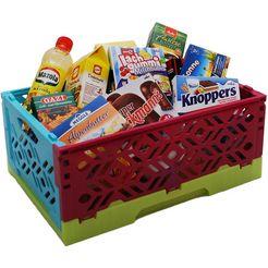 tanner speellevensmiddelen met krat, »mini-klapkrat « multicolor