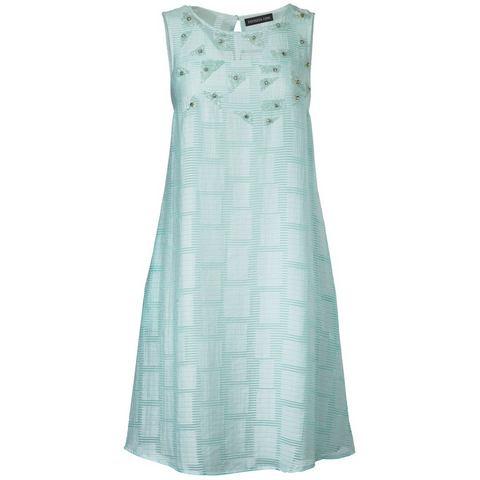 jurk met borduursel groen