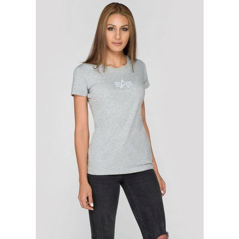 NU 20% KORTING: ALPHA INDUSTRIES T-shirt »Basic T Wmn«