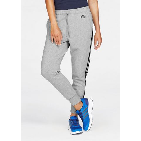 Adidas Essentials 3 Stripes Tapered women's training pants (grey-black) XS