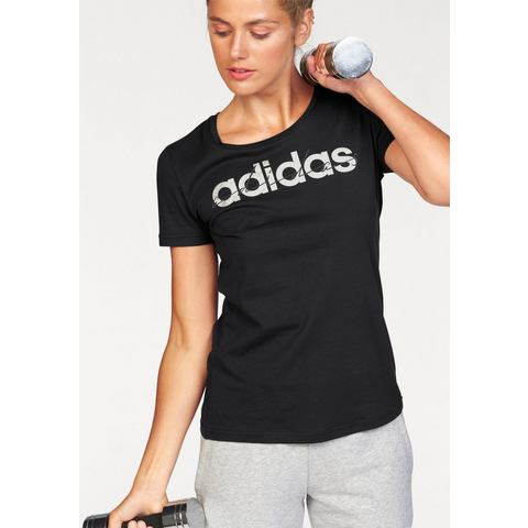adidas Special Linear Tee, Zwart, M, Female, Not Sports Specific