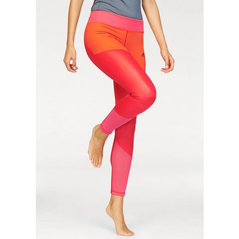 adidas Ultimate Lange Legging, Rood, XS, Female, Training