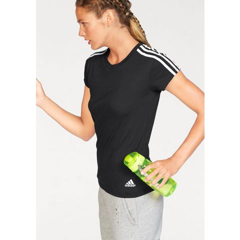 NU 15% KORTING: ADIDAS PERFORMANCE T-shirt »ESSENTIALS 3S SLIM TEE«