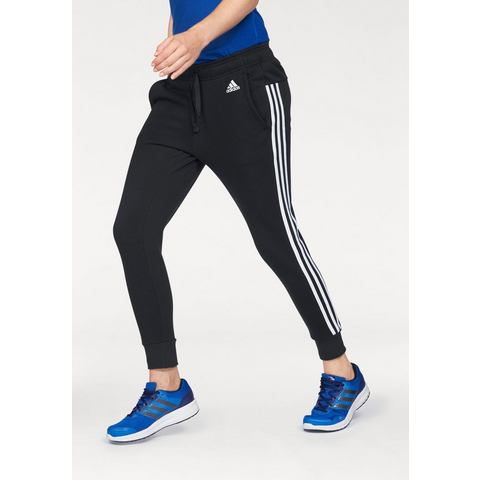 NU 15% KORTING: ADIDAS PERFORMANCE joggingbroek »ESSENTIALS 3 STRIPES TAPERED PANT«