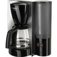 bosch koffiezetapparaat comfortline tka6a643, met glazen kan, zwart-edelstaal zwart