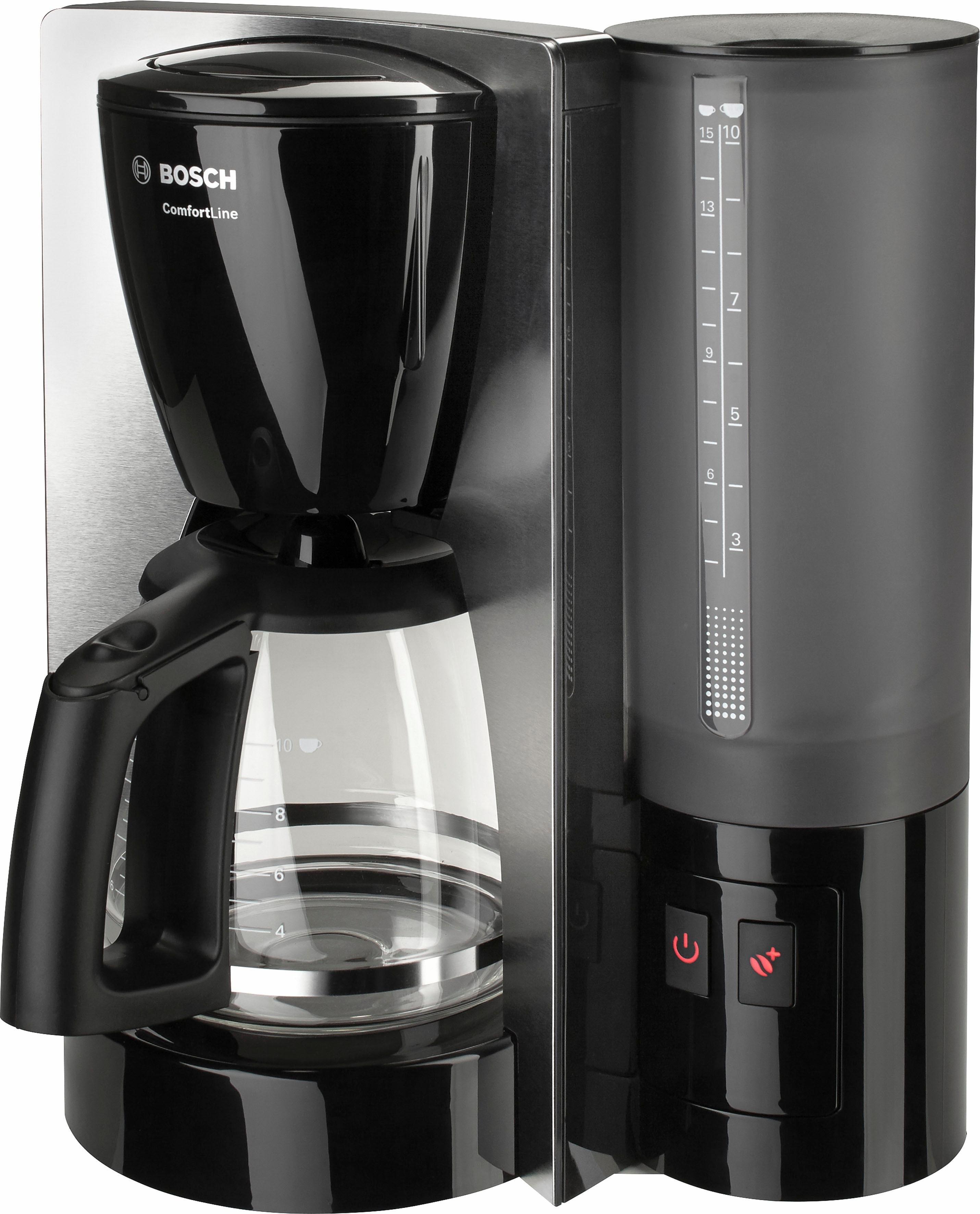 Bosch Koffiezetapparaat ComfortLine TKA6A643, met glazen kan, zwart/edelstaal nu online kopen bij OTTO