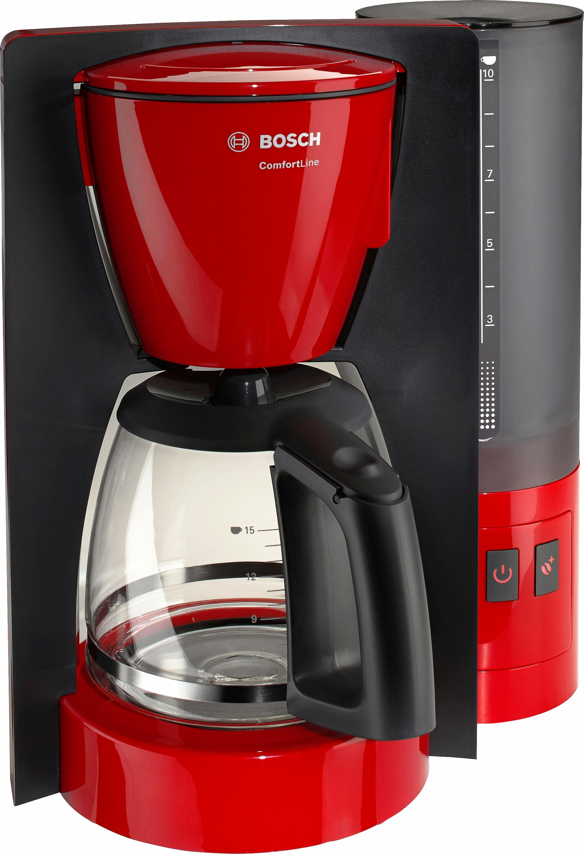 Bosch Koffiezetapparaat ComfortLine TKA6A043, met glazen kan, zwart - gratis ruilen op otto.nl